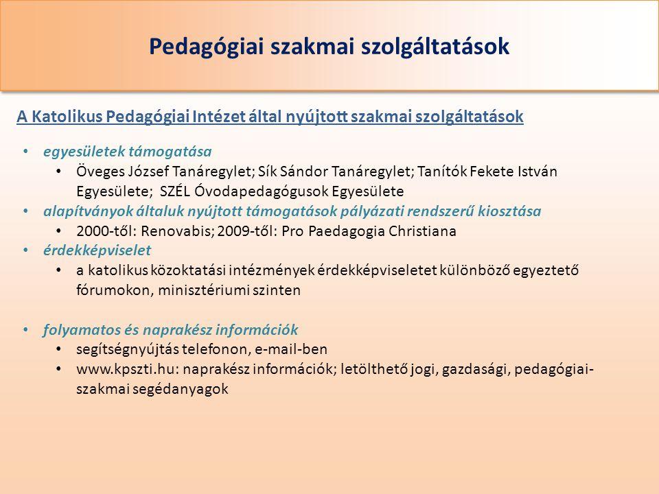 Pedagógiai szakmai szolgáltatások
