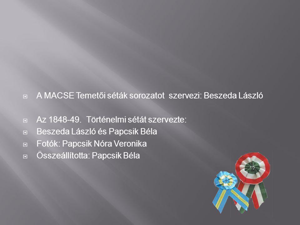 A MACSE Temetői séták sorozatot szervezi: Beszeda László