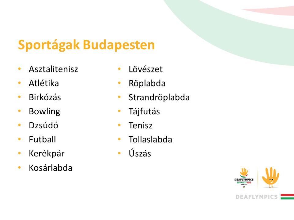Sportágak Budapesten Asztalitenisz Atlétika Birkózás Bowling Dzsúdó