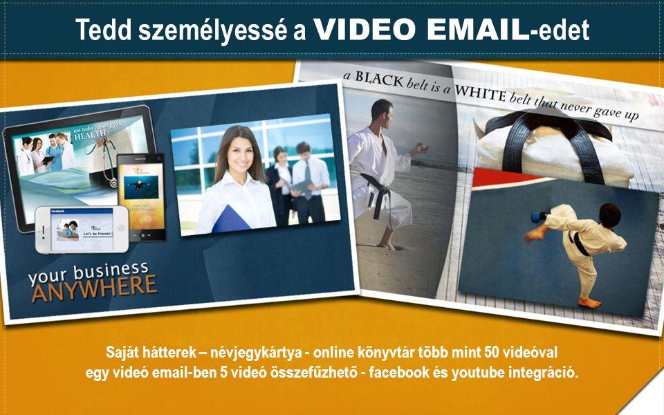 Tedd személyessé a VIDEO EMAIL-edet
