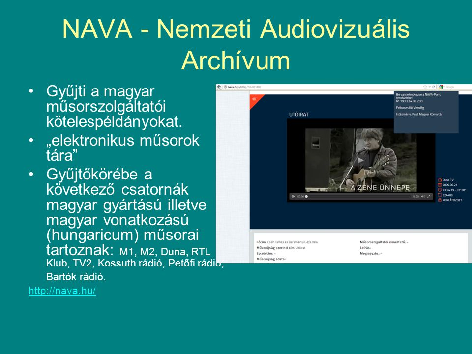 NAVA - Nemzeti Audiovizuális Archívum
