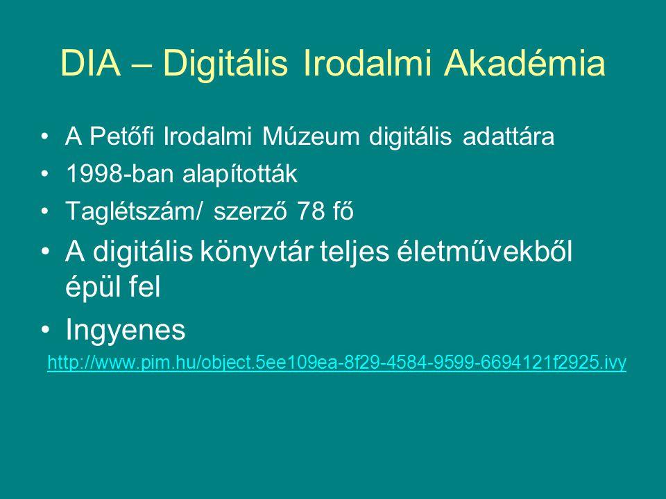 DIA – Digitális Irodalmi Akadémia