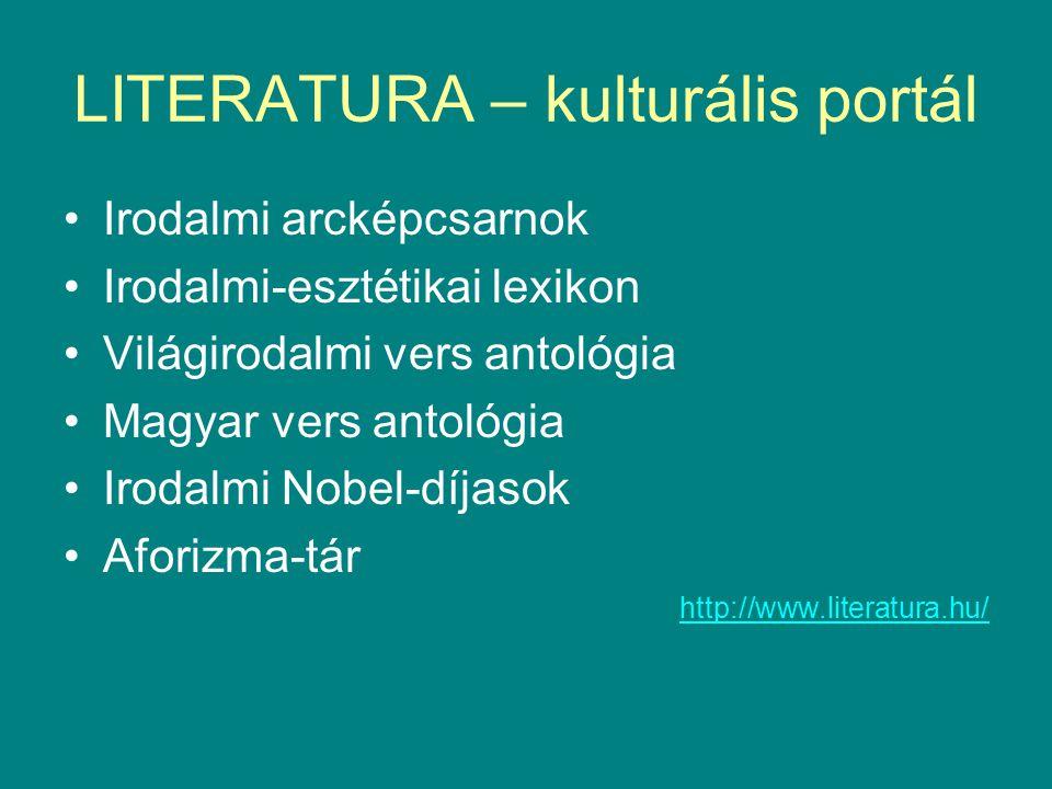 LITERATURA – kulturális portál