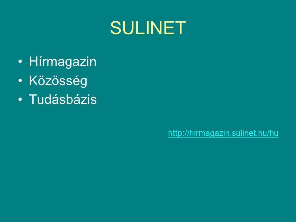 SULINET Hírmagazin Közösség Tudásbázis http://hirmagazin.sulinet.hu/hu
