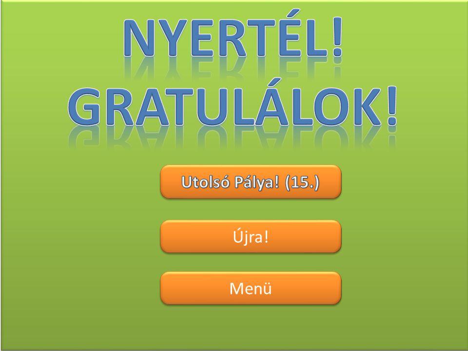Nyertél! Gratulálok! Utolsó Pálya! (15.) Újra! Menü