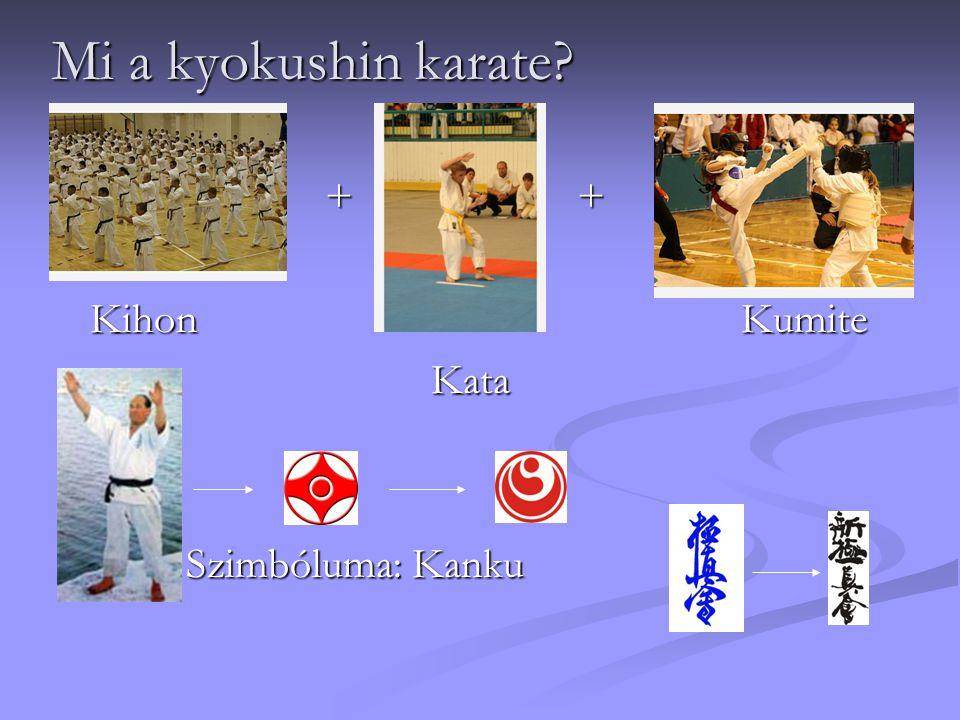 Mi a kyokushin karate + + Kihon Kumite.