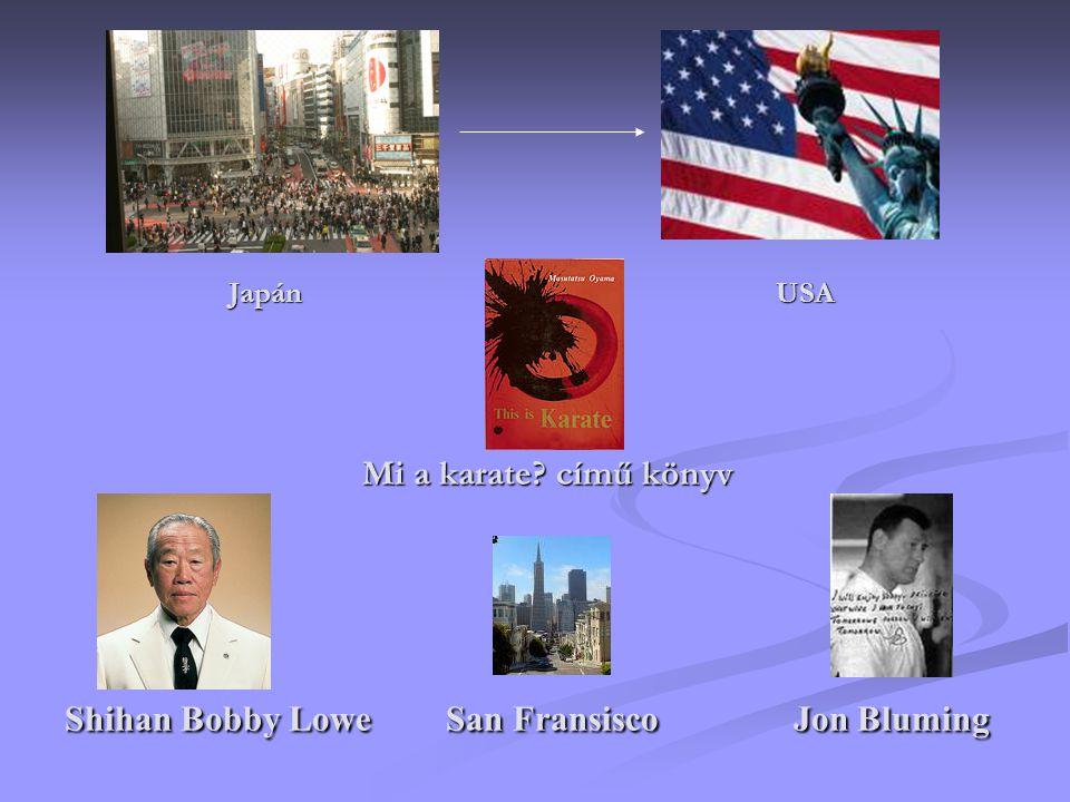 Japán USA Mi a karate című könyv Shihan Bobby Lowe San Fransisco Jon Bluming