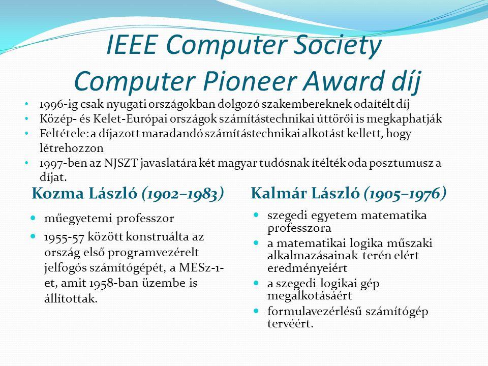 IEEE Computer Society Computer Pioneer Award díj