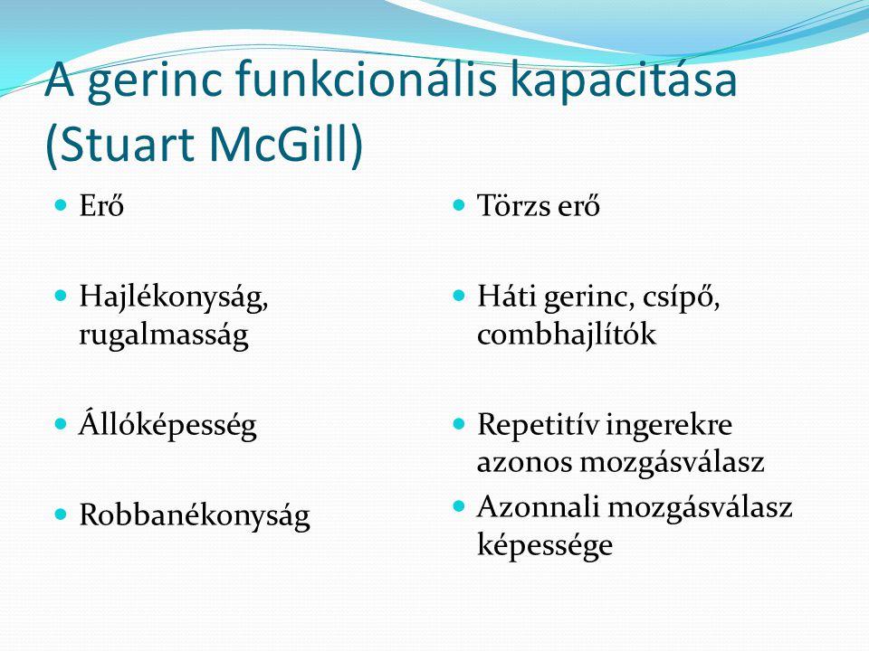 A gerinc funkcionális kapacitása (Stuart McGill)