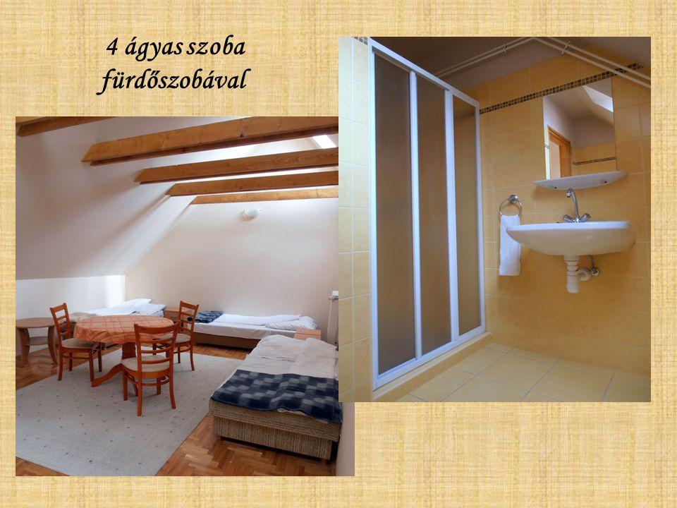 4 ágyas szoba fürdőszobával