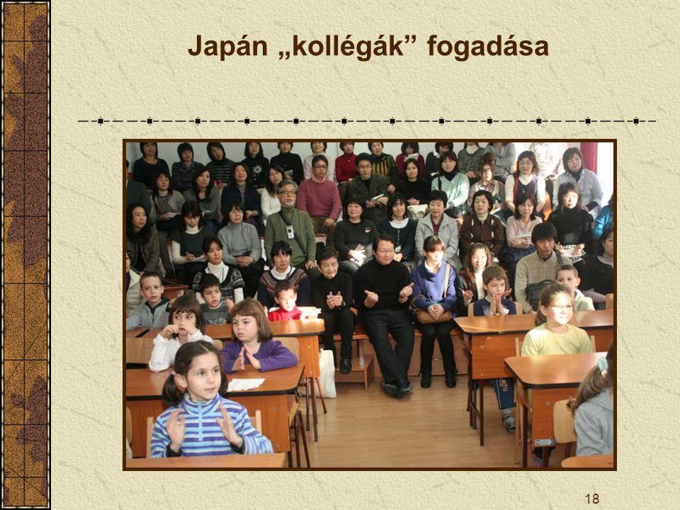 """Japán """"kollégák fogadása"""
