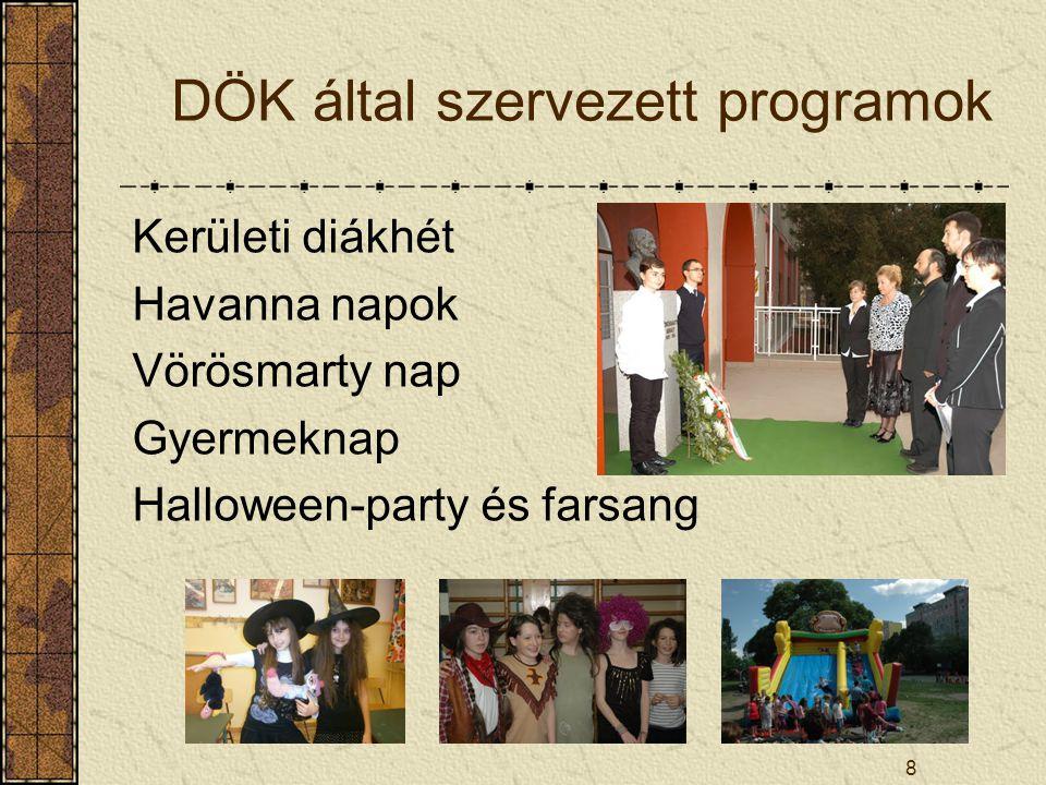 DÖK által szervezett programok