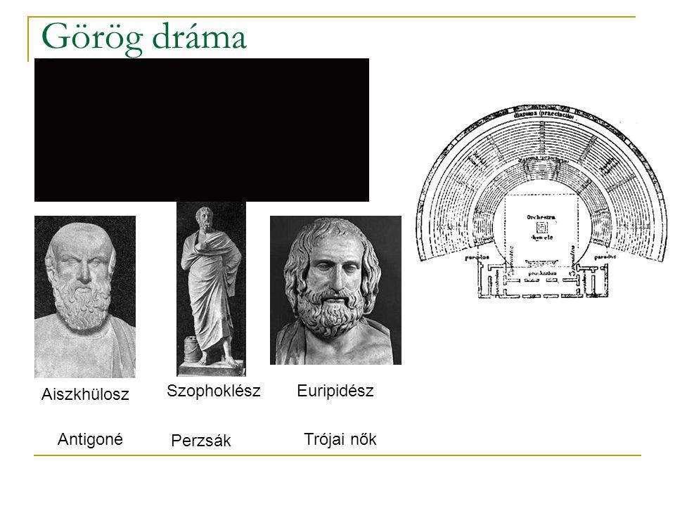 Görög dráma Aiszkhülosz Szophoklész Euripidész Antigoné Perzsák