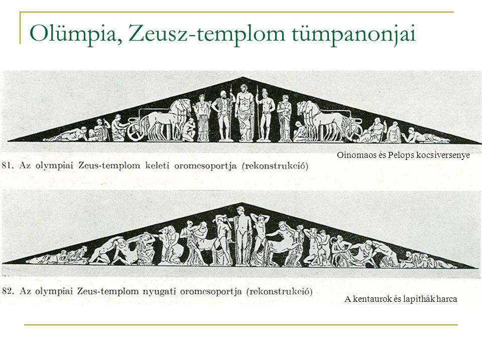 Olümpia, Zeusz-templom tümpanonjai