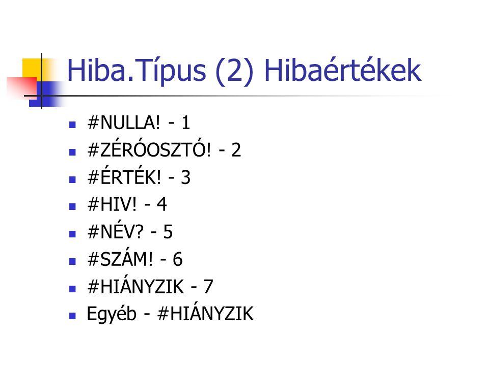 Hiba.Típus (2) Hibaértékek