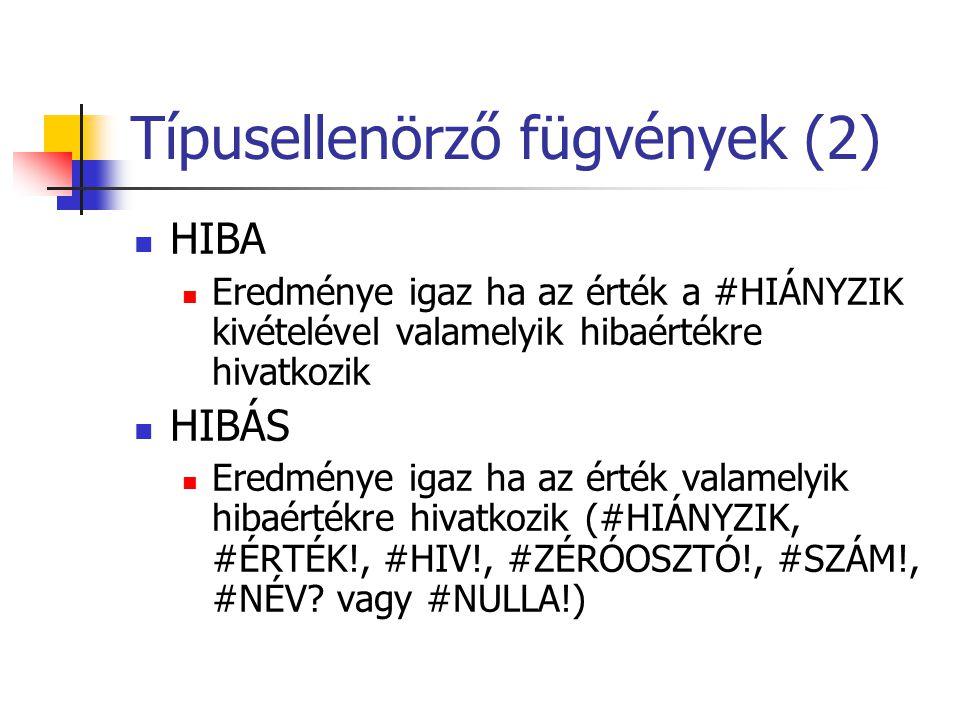 Típusellenörző fügvények (2)
