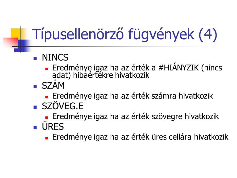 Típusellenörző fügvények (4)