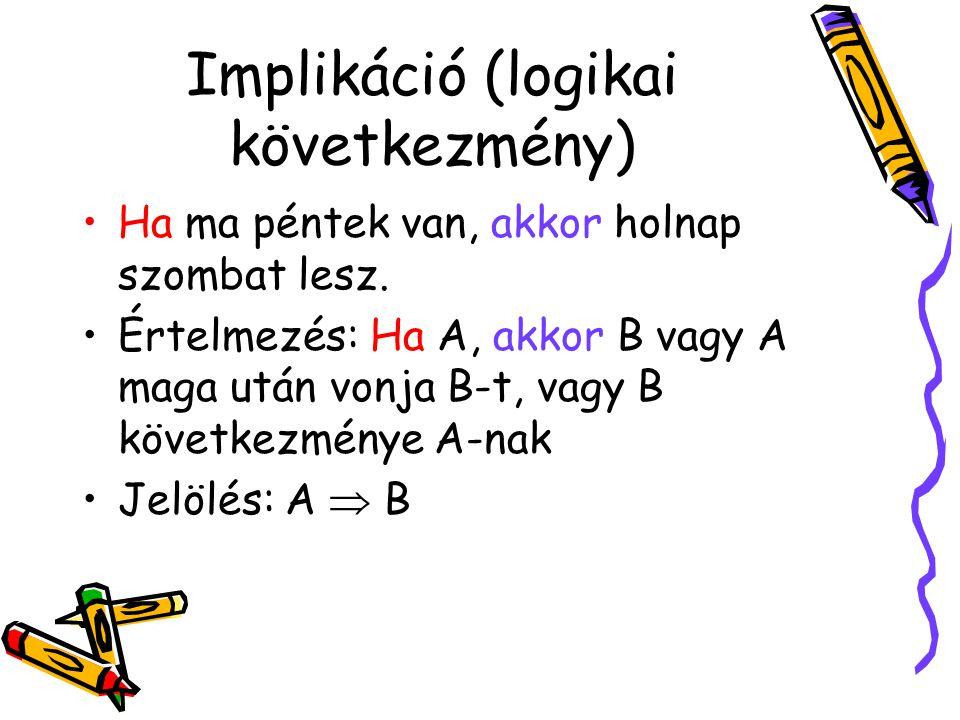 Implikáció (logikai következmény)