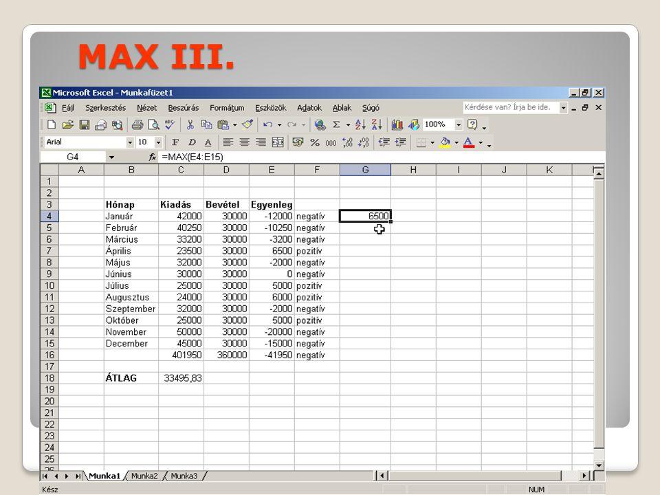 MAX III.