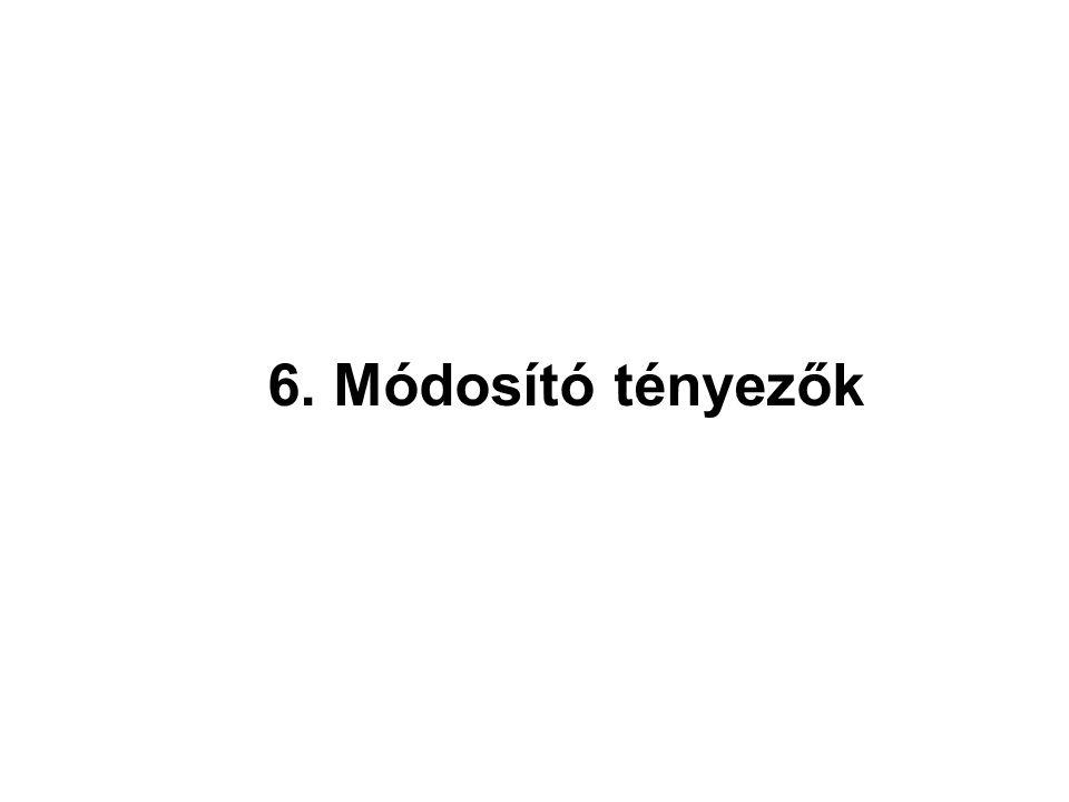 6. Módosító tényezők 22