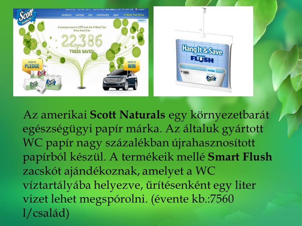 Az amerikai Scott Naturals egy környezetbarát egészségügyi papír márka