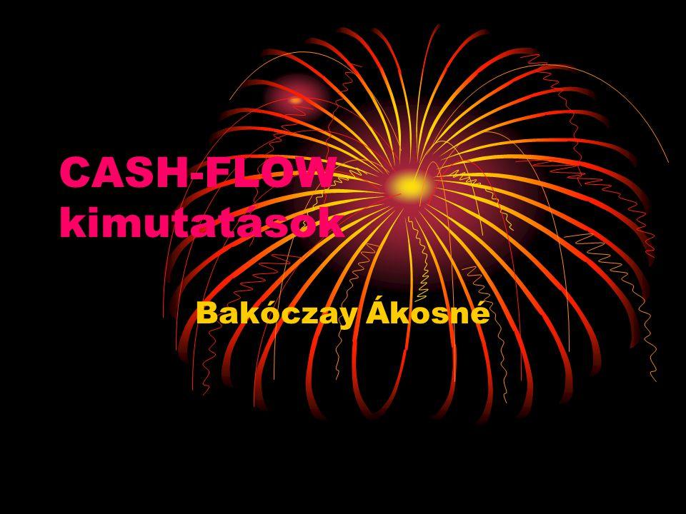CASH-FLOW kimutatások