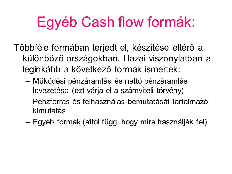 Egyéb Cash flow formák: