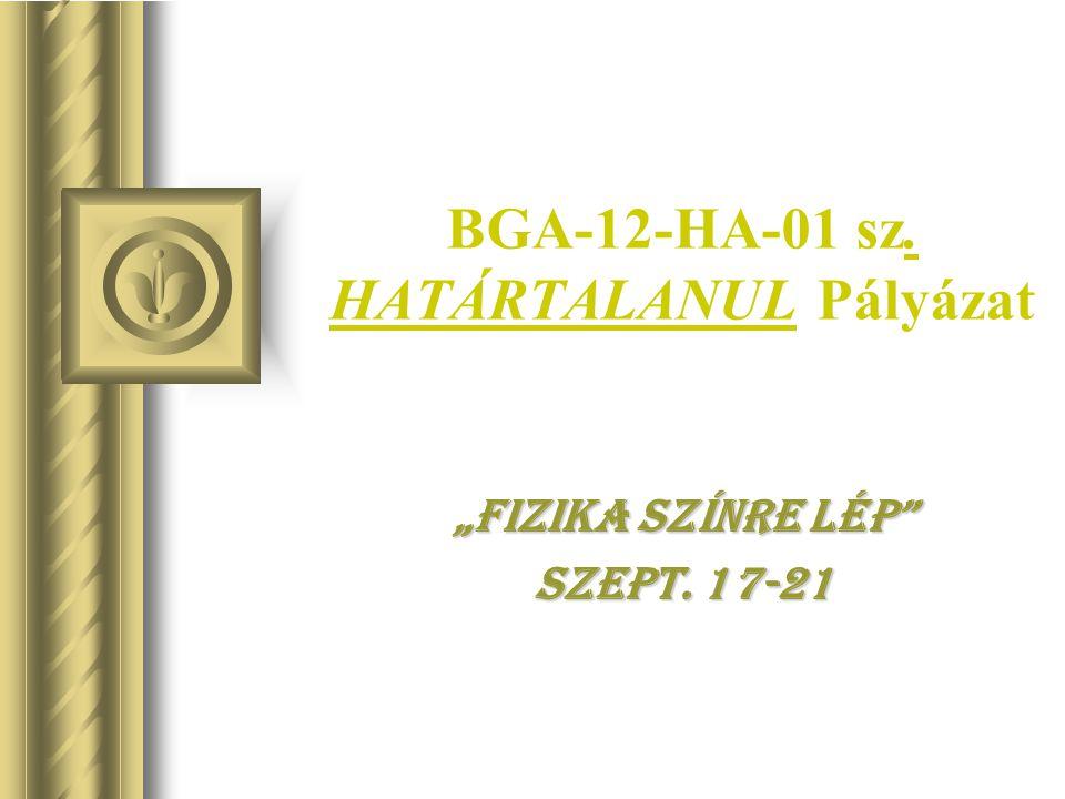 BGA-12-HA-01 sz. HATÁRTALANUL Pályázat