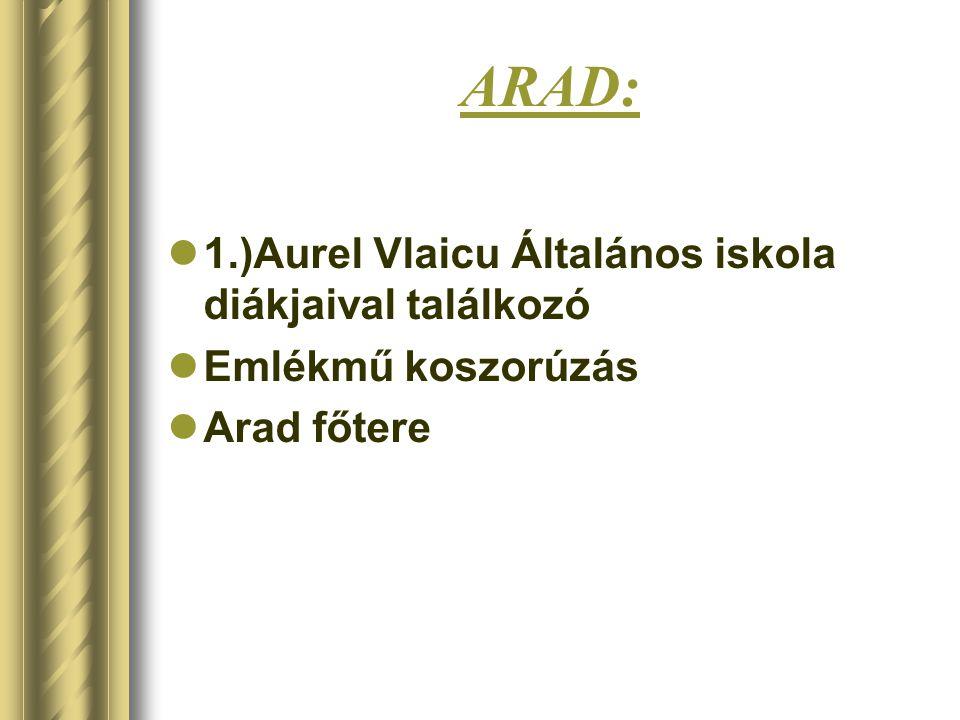 ARAD: 1.)Aurel Vlaicu Általános iskola diákjaival találkozó