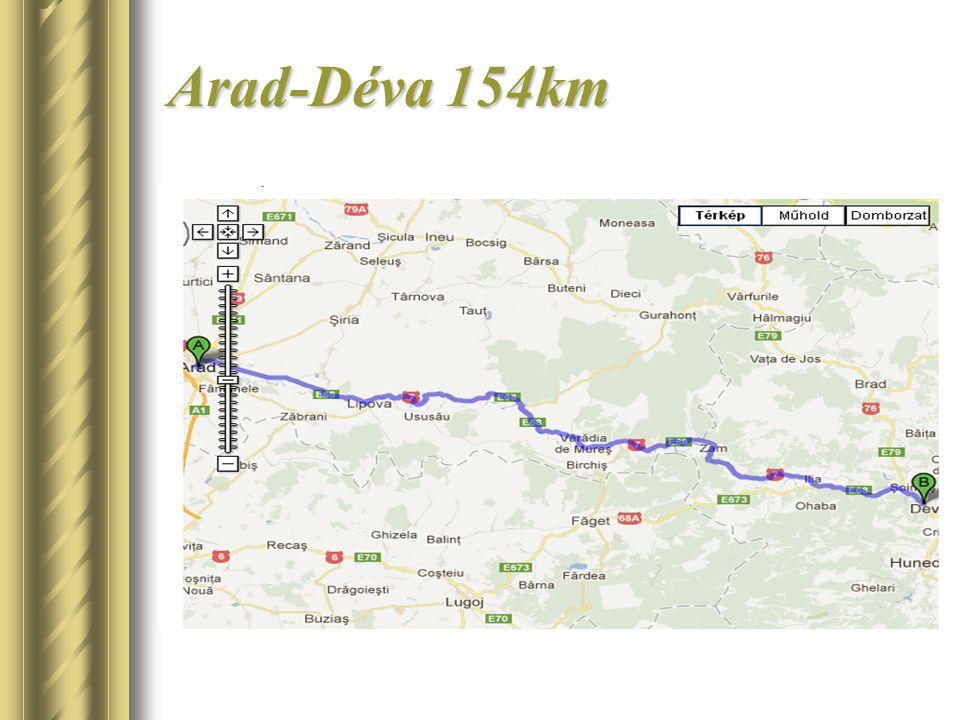 Arad-Déva 154km