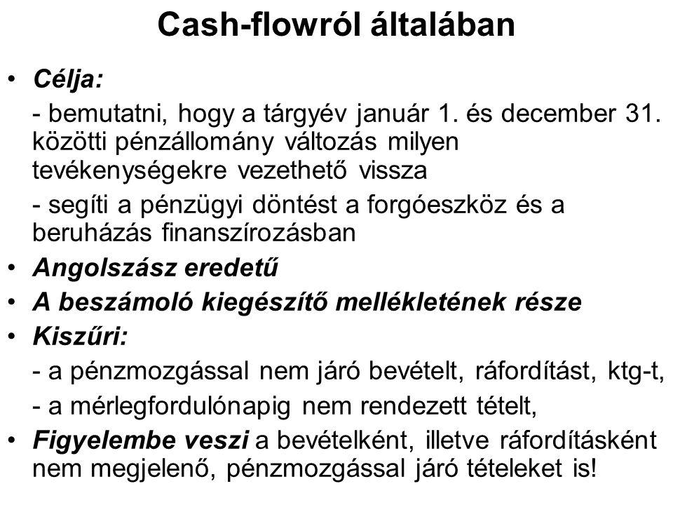 Cash-flowról általában