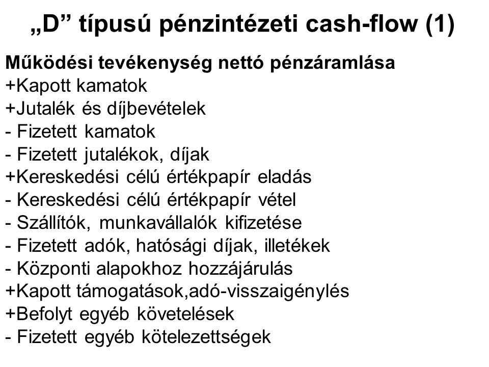 """""""D típusú pénzintézeti cash-flow (1)"""