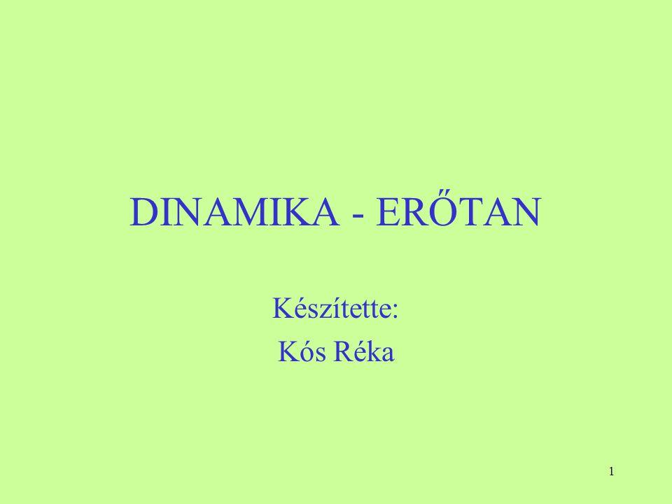 DINAMIKA - ERŐTAN Készítette: Kós Réka
