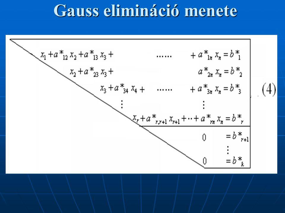 Gauss elimináció menete