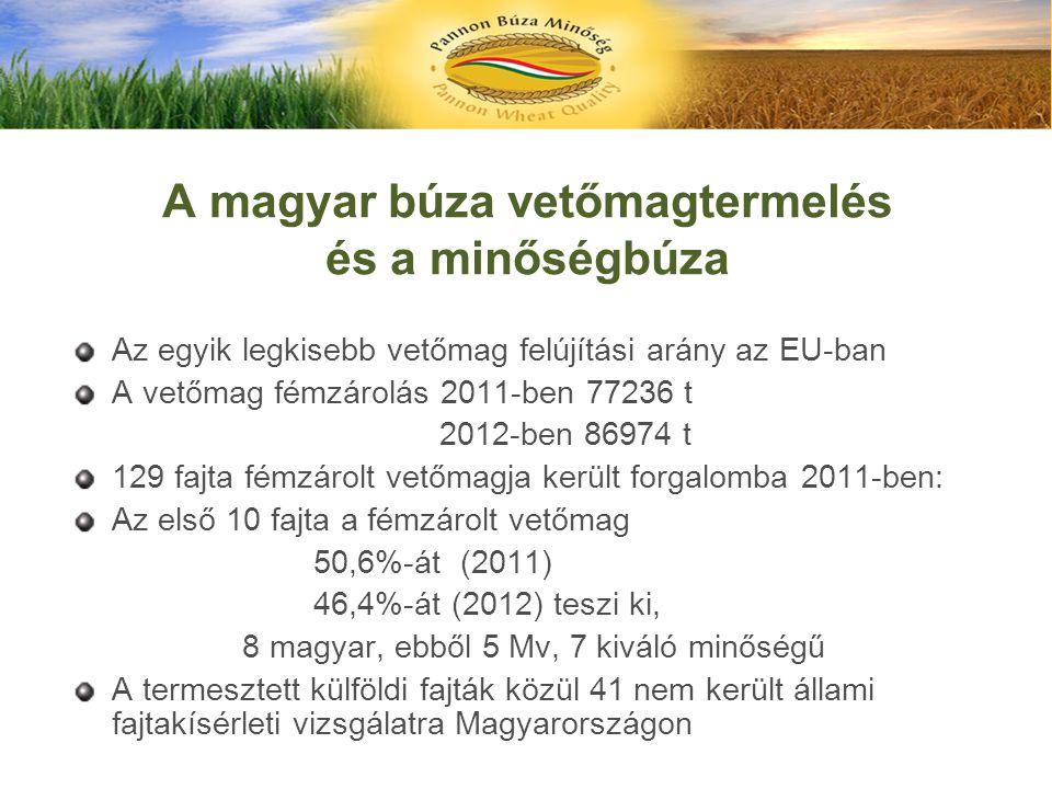 A magyar búza vetőmagtermelés és a minőségbúza