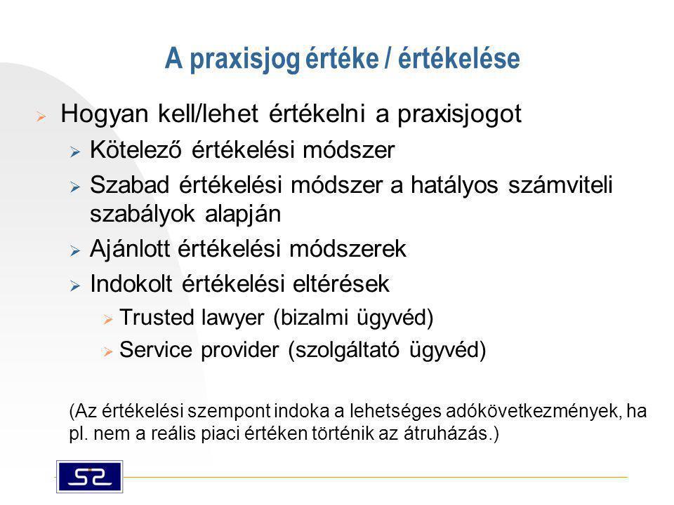 A praxisjog értéke / értékelése