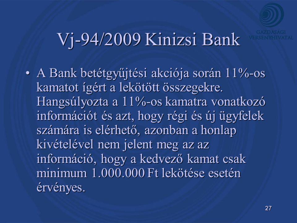 Vj-94/2009 Kinizsi Bank