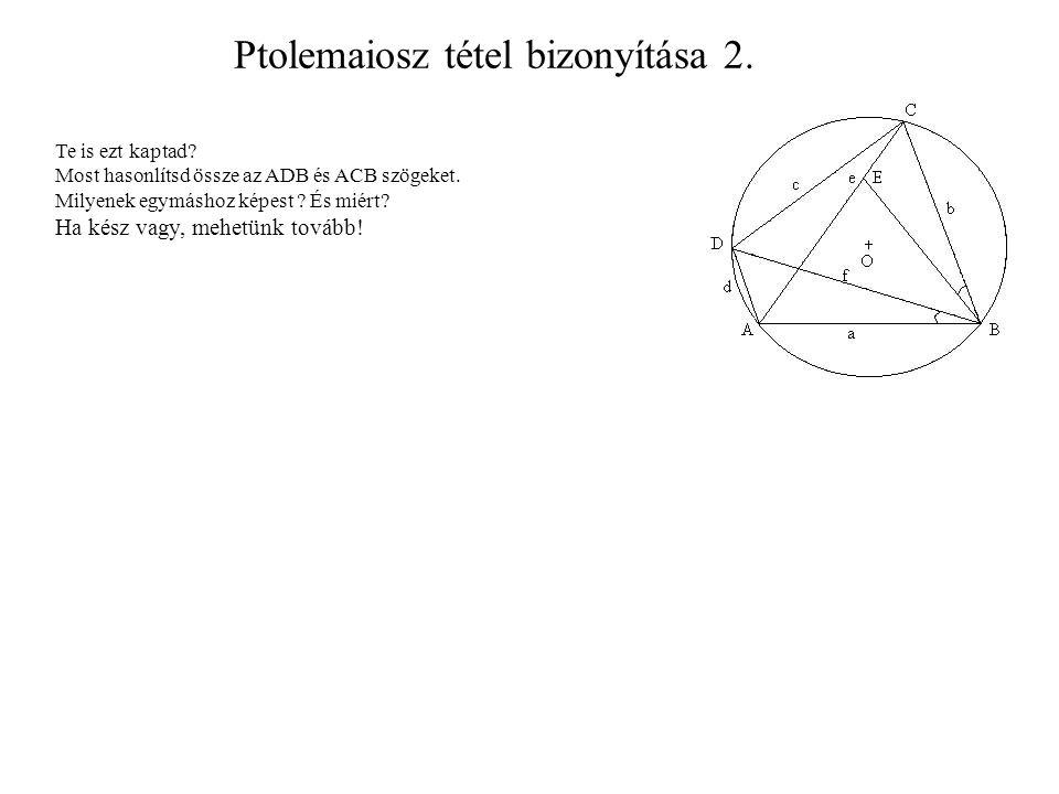 Ptolemaiosz tétel bizonyítása 2.