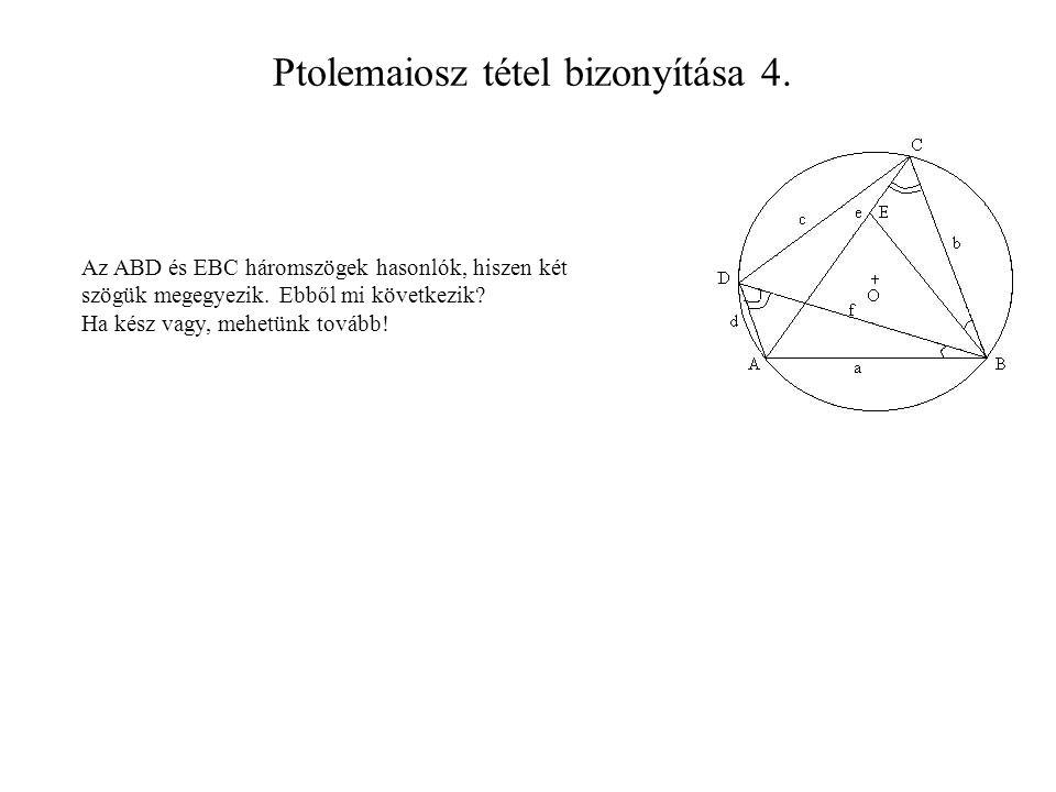Ptolemaiosz tétel bizonyítása 4.