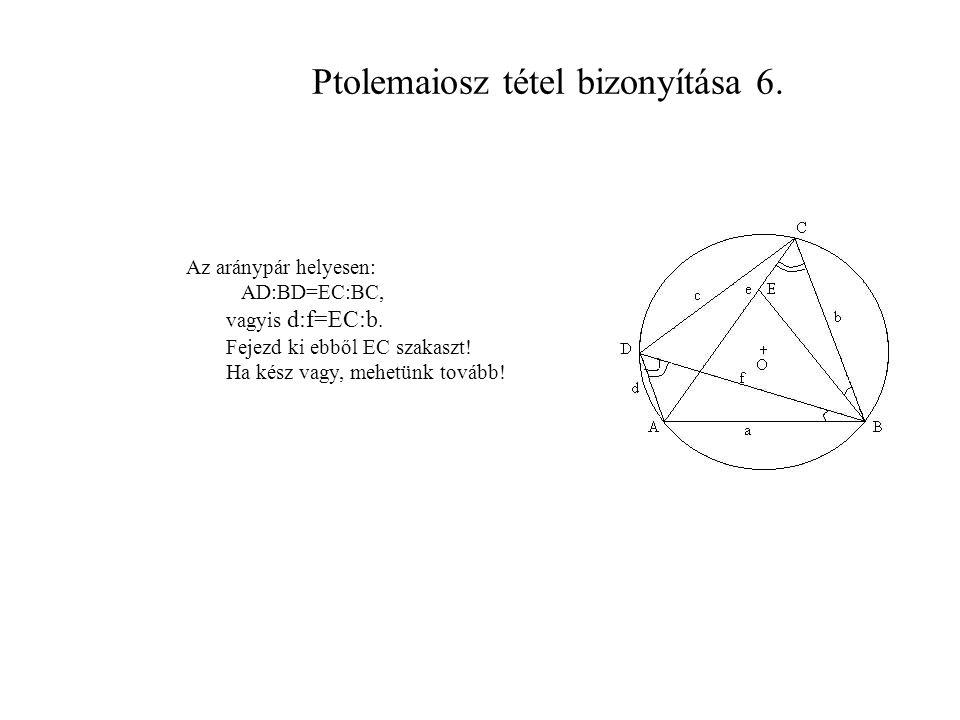 Ptolemaiosz tétel bizonyítása 6.