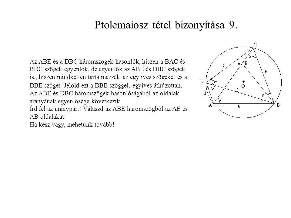 Ptolemaiosz tétel bizonyítása 9.