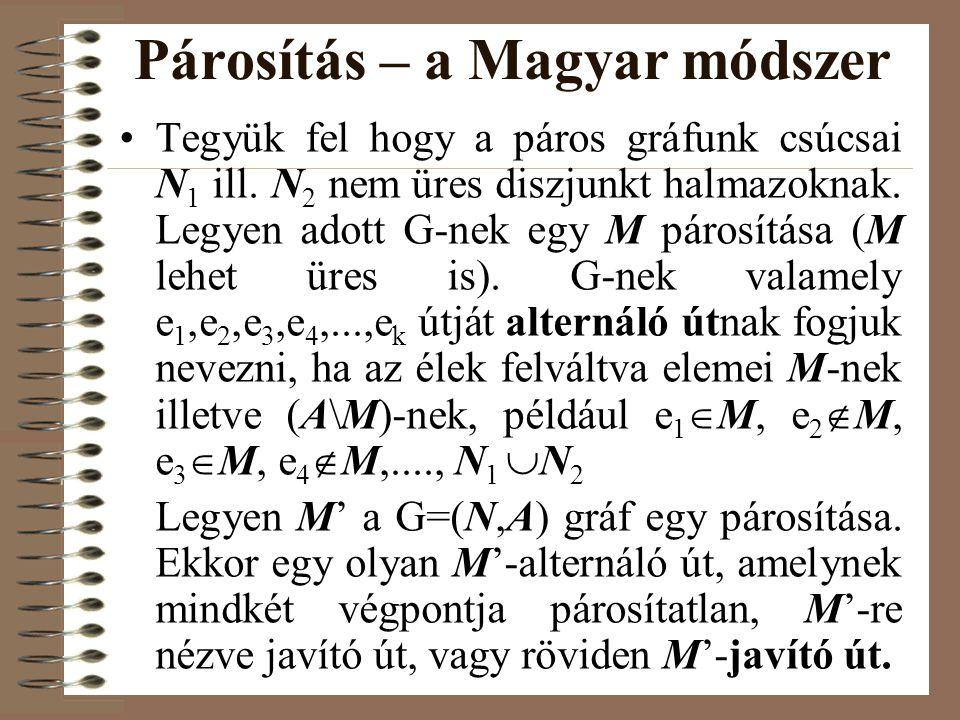 Párosítás – a Magyar módszer