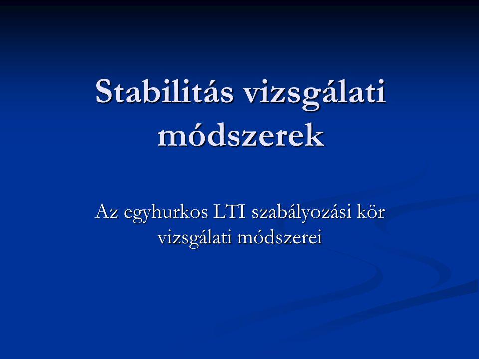 Stabilitás vizsgálati módszerek