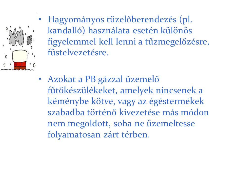Hagyományos tüzelőberendezés (pl
