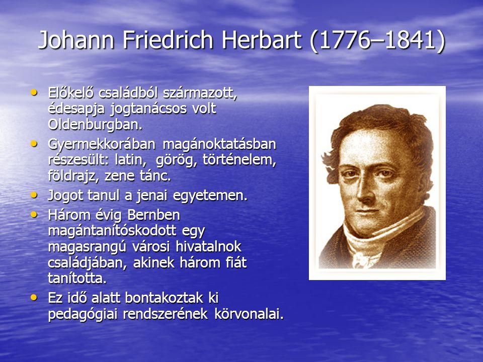 Johann Friedrich Herbart (1776–1841)