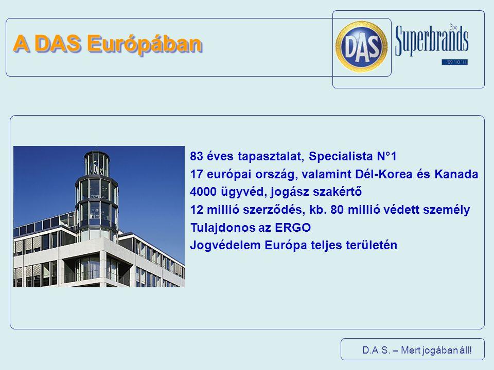 A DAS Európában 83 éves tapasztalat, Specialista N°1