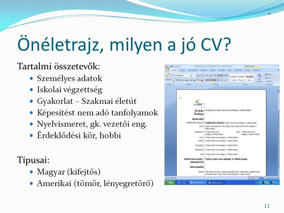 Önéletrajz, milyen a jó CV