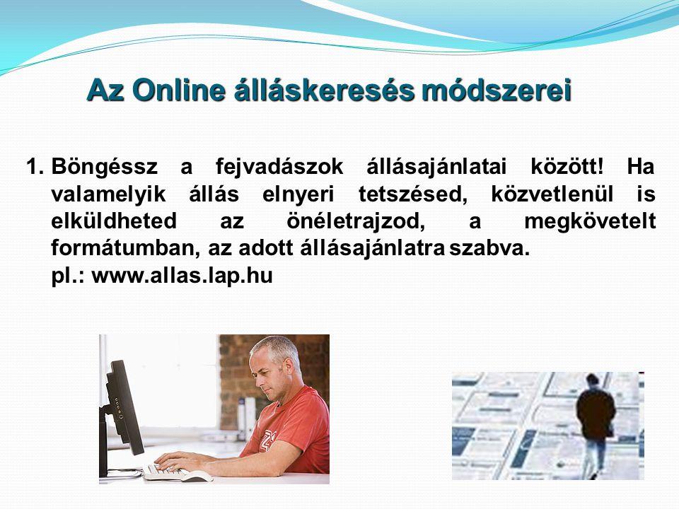 Az Online álláskeresés módszerei