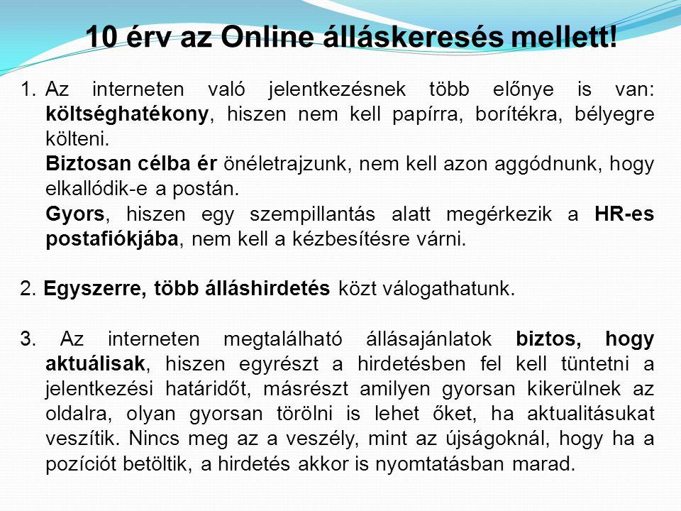 10 érv az Online álláskeresés mellett!
