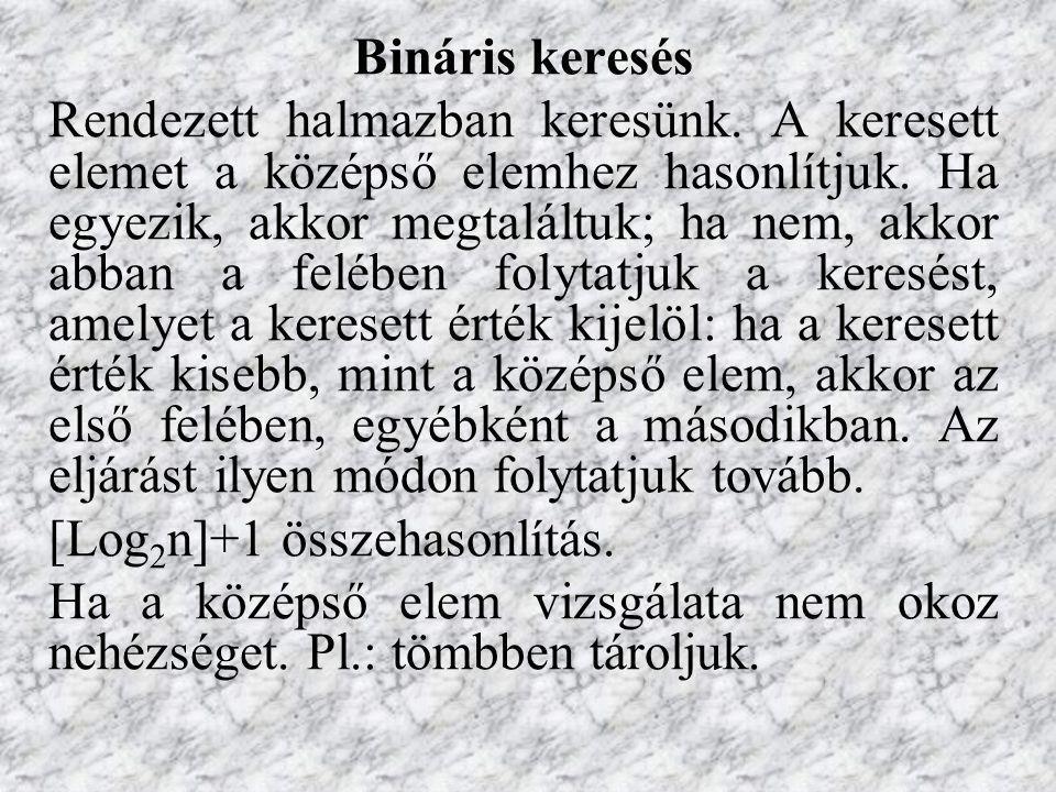Bináris keresés